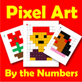 Pixel Art by the Numbers - Kinder and Grade 1