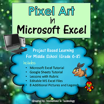 Pixel Art in Microsoft Excel or Google Sheets