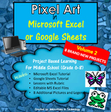 Pixel Art in Microsoft Excel or Google Sheets - VOLUME 2
