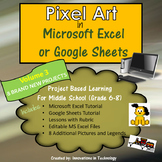 Pixel Art in Microsoft Excel or Google Sheets - VOLUME 3