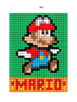 Pixel Color by Number - MARIO - NINTENDO Mario Brothers - Busy/Sub Work