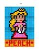 Pixel Color by Number - PEACH - NINTENDO Mario Brothers - Busy/Sub Work