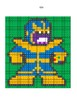 Pixel Color by Number - Thanos - Guardians of the Galaxy & Avengers - Busy Work