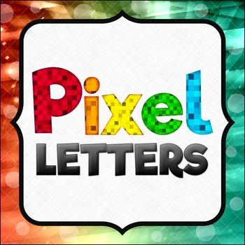 Pixel Alphabet Clipart