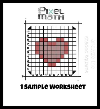 Pixel Math Heart Art / Practice with Decimals and Fractions