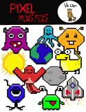 Pixel Monsters Clip Art