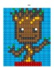 Pixel Color by Number - Baby Groot - Guardians of the Galaxy and Avengers