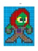 Pixel Color by Number - Gamora - Guardians of the Galaxy and Avengers Busy Work