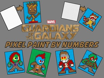 Pixel Color by Number - Guardians of the Galaxy BUNDLE - Sub / Busy Work
