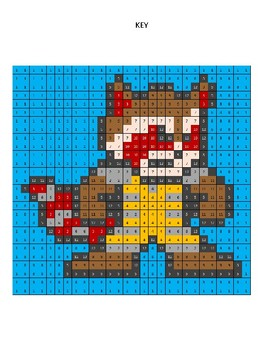 Pixel Color by Number - Rocket Racoon - Guardians of the Galaxy and Avengers