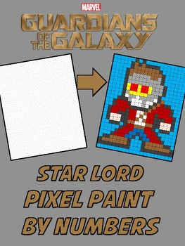 Pixel Color by Number - Star Lord - Guardians of the Galaxy and Avengers