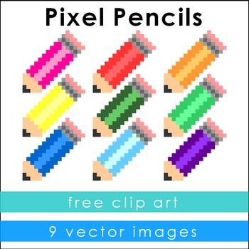 Pixel Pencil Clip Art