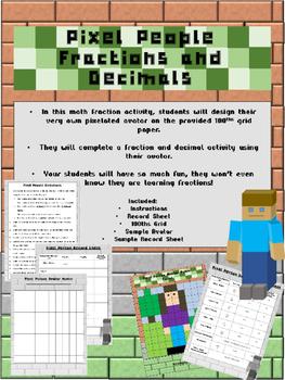 Pixel People Fractions and Decimals