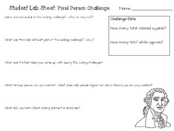 Pixel Person ~ Coding Unplugged Challenge ~ STEM