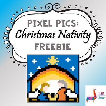 Pixel Pics: Christmas Nativity Freebie
