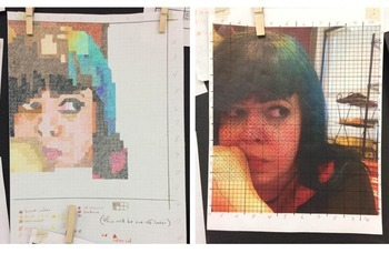 Pixel Portraits: Colored Pencil + Technology Unit for Visual Arts (Bundle)