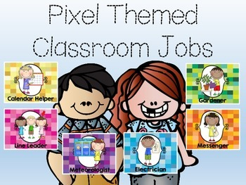 Pixel Themed Classroom Jobs
