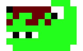 Pixelated Prehistoric Clip-Art