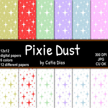 Pixie Dust - 12 Digital Papers