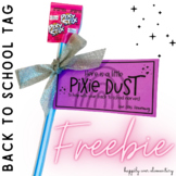 Pixie Dust Back to School Tag | Editable Pixy Stix Gift Tag