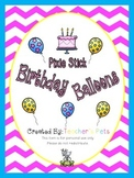 Pixie Stick Birthday Balloons