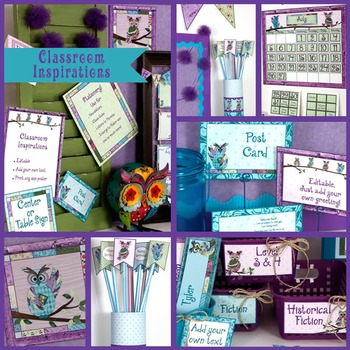 Pixy Stix Topper – Coordinates with Book Smart Owls Classroom Theme