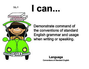 Pizza 3rd grade English Common core standards posters