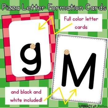 Pizza Alphabet & Handwriting Cards {Perfect for RtI, & intervention}
