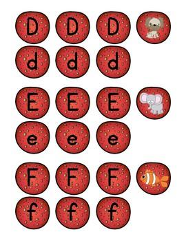 Pizza Alphabet Matching