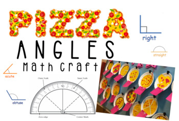 Pizza Angles Math Craft (with Bonus Bulletin Board Printable Letters!)