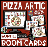 Pizza Articulation BOOM Card Bundle for Speech Therapy