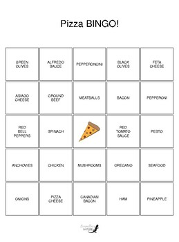 Pizza BINGO!