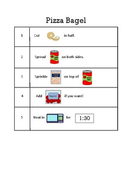 Pizza Bagel Visual Recipe