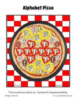 Pizza Based Preschool  ~ Focus Alphabet F ~ Patterns Clothes Pin Cards & More