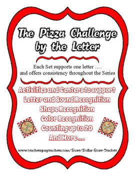 Pizza Based Preschool  ~ Focus Alphabet H ~ Patterns Clothes Pin Cards & More