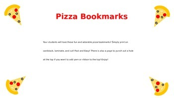 Pizza Bookmarks