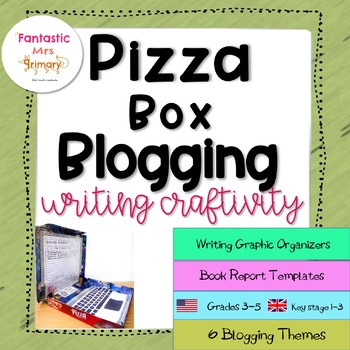 Pizza Box Blogging : writing graphic organizers with book review templates