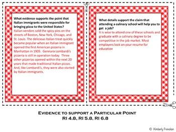 Informational Text Literacy Center: Pizza Box Book