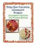 Pizza Box Equivalent Fractions Homework Project