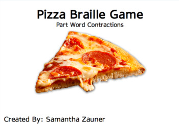 Pizza Braille Game