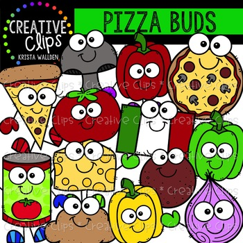 Pizza Buds Clipart {Creative Clips Clipart}