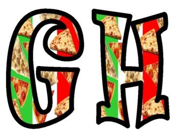 Pizza Bulletin Board Letters
