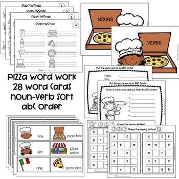 Pizza Bundle with The Little Red Hen Makes a Pizza and Pizza Centers