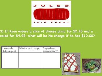 Real World Math (ACTIVE BOARD)- Pizza CBI; Life Skills Math