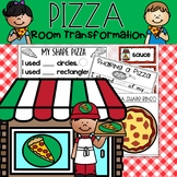 Pizza Classroom Transformation by Teacher With Coffee