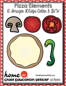 Pizza Elements Clip Art