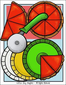 Pizza Clip Art Set - Chirp Graphics