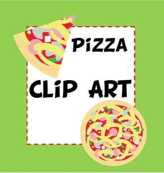 Pizza Clip Art for Fractions, Fundraising and Play