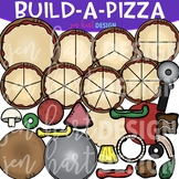 Pizza Clipart - Build a Pizza - Build-a-Center {Jen Hart C