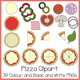 Pizza Clipart (Ideal For Fractions!)
